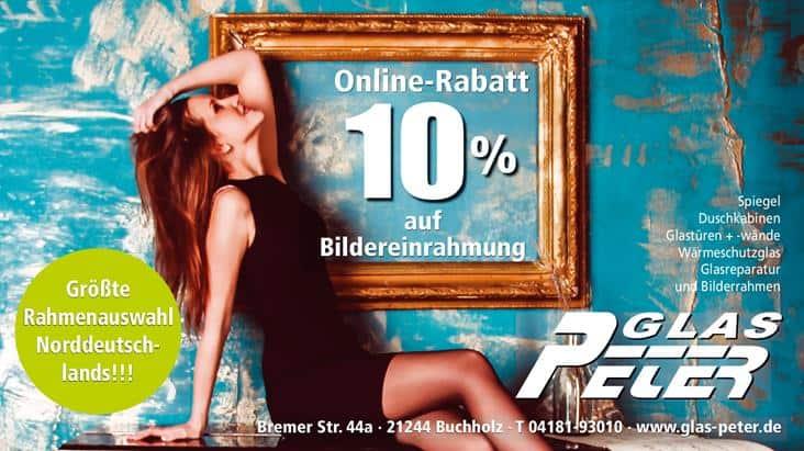 Online-Rabatt 10% Landkreis Harburg – Glas Peter