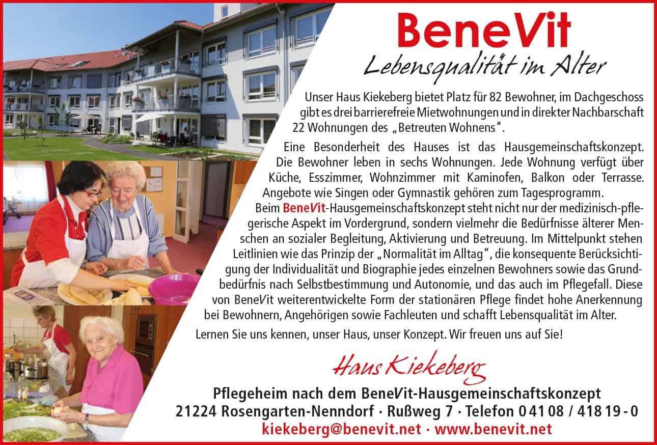 Altenheim Pflegeheim und Seniorenresidenz – BeneVit Haus Kiekeberg