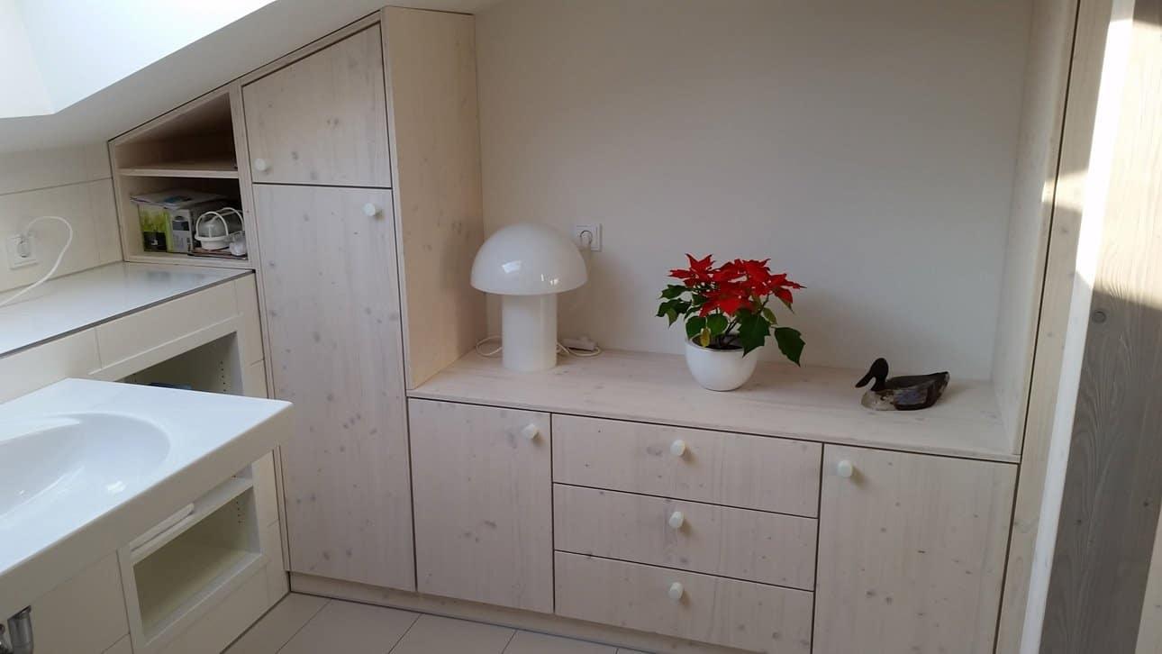 Einbauschrank im Badezimmer von Bernd Schäffer Holzdesign