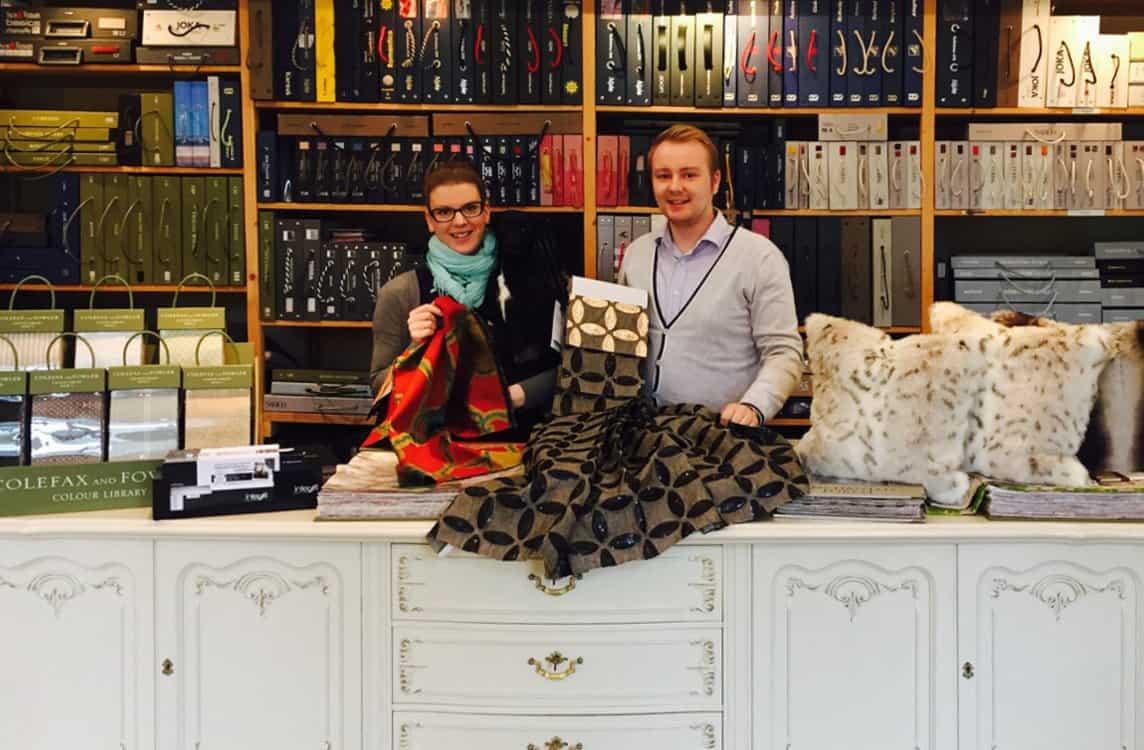 In der Ausstellung bei Polsterei Helmeke & Hosch