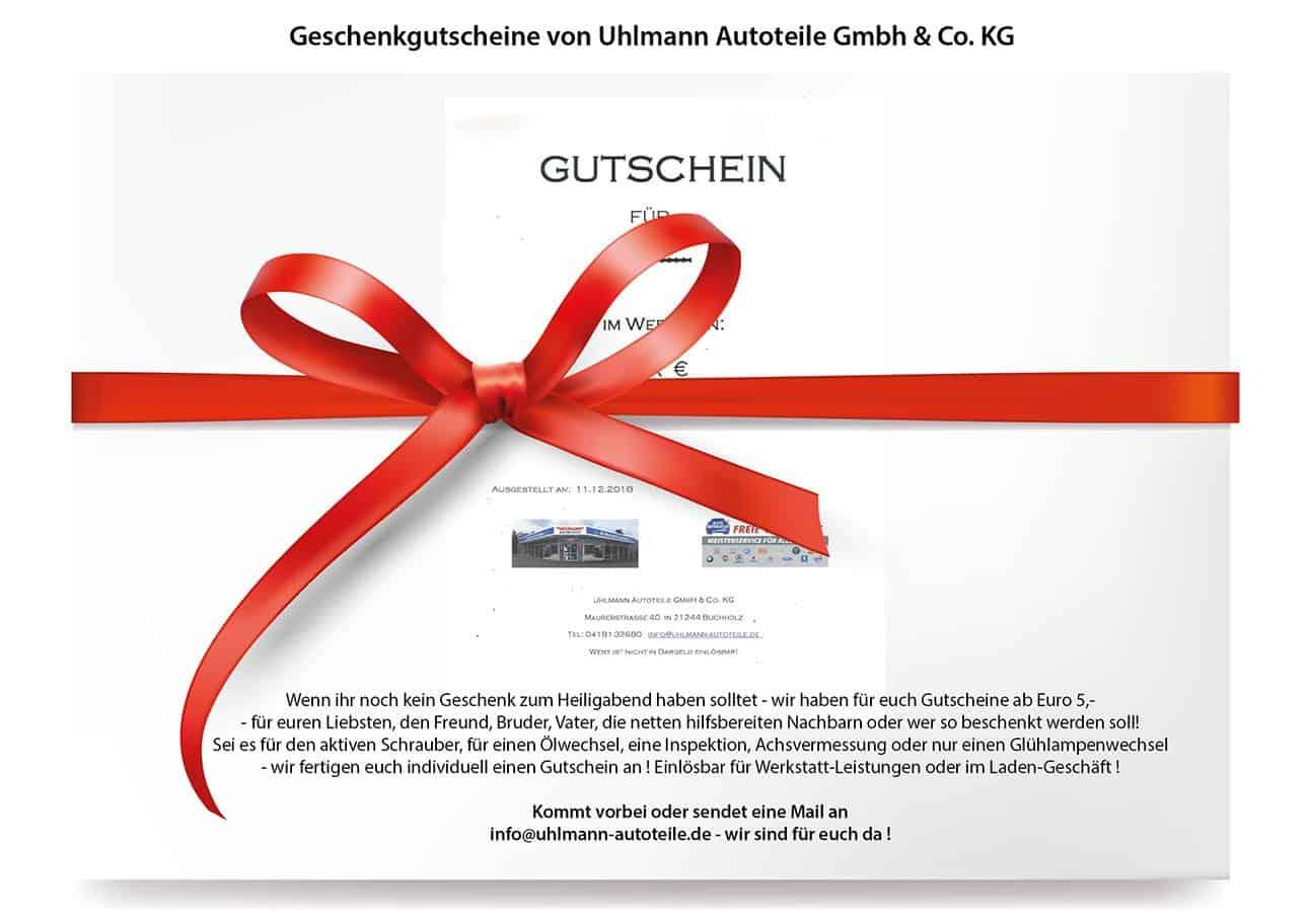 Geschenkgutscheine Nordheide – Uhlmann Autoteile