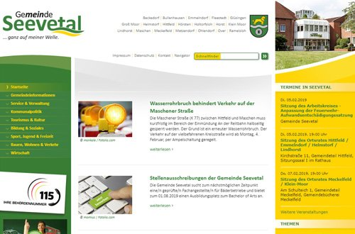 Homepage der Gemeinde Seevetal