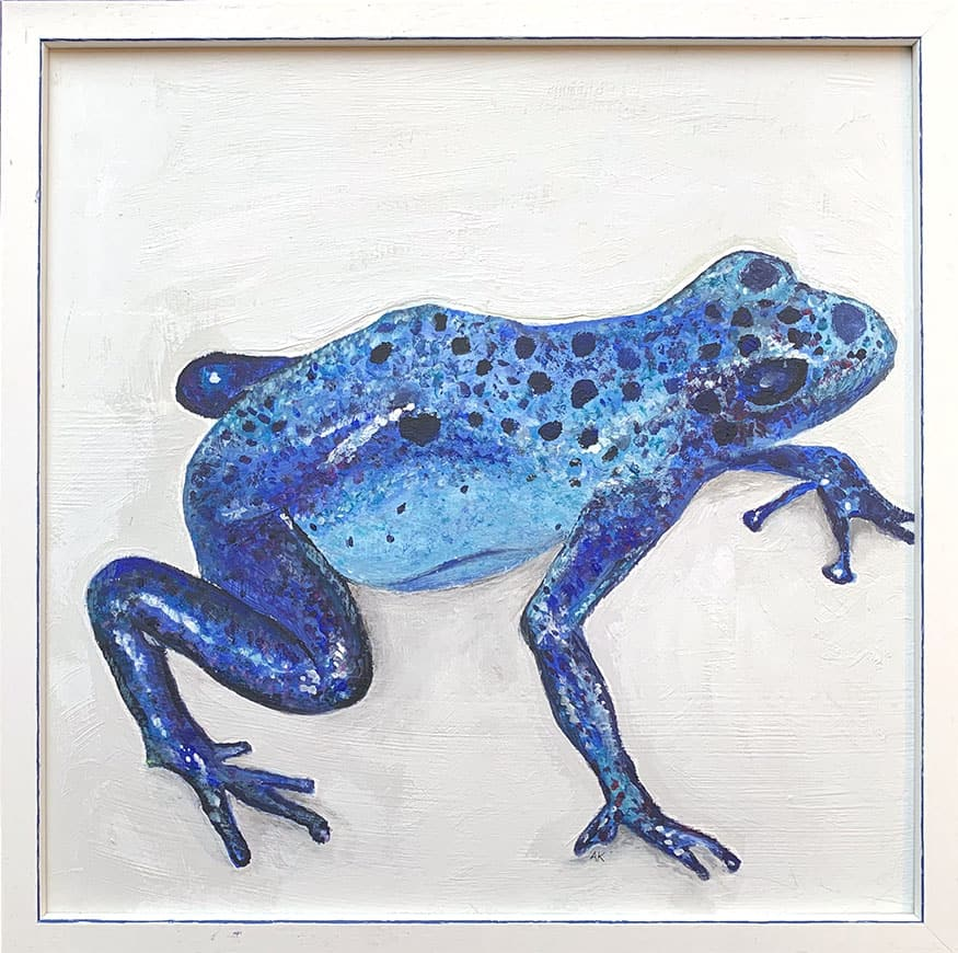 Bild Keusch-Wannags 2 Frosch blau 40 x 40 cm