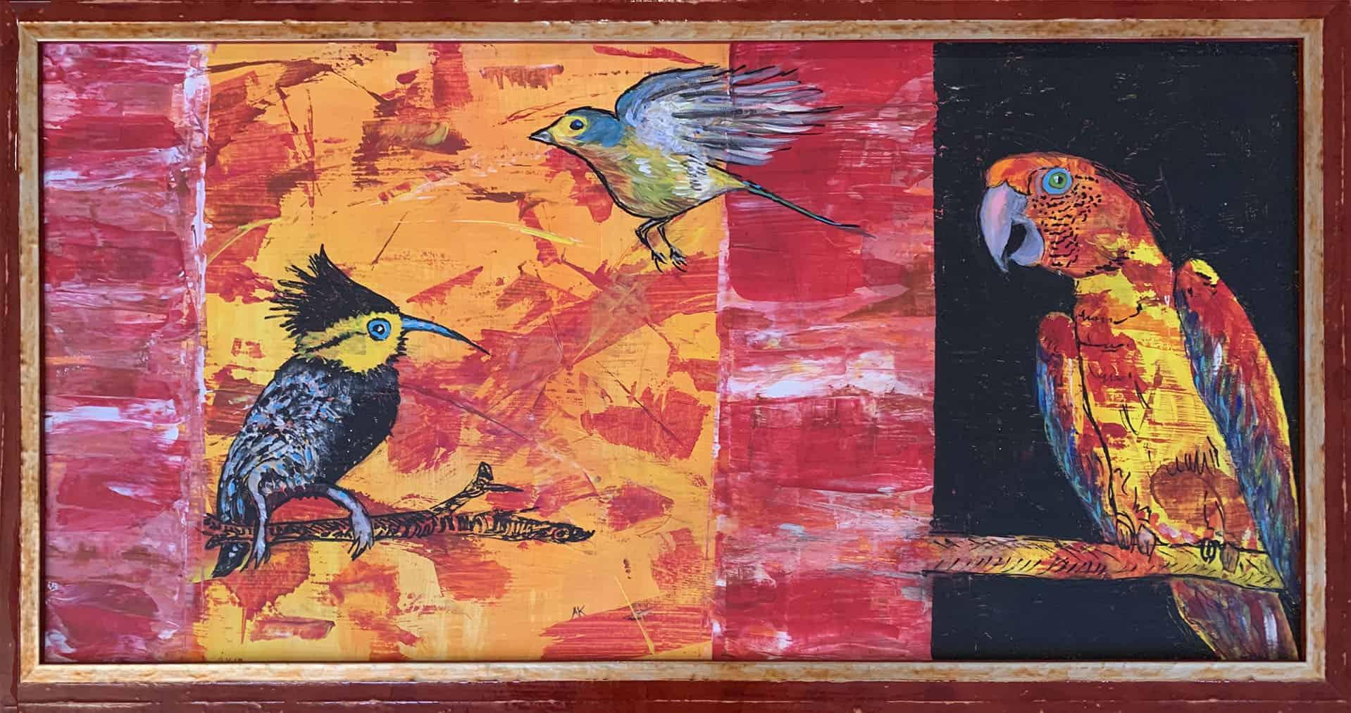 Bild Keusch-Wannags 4 Papagei 40 x 80 cm