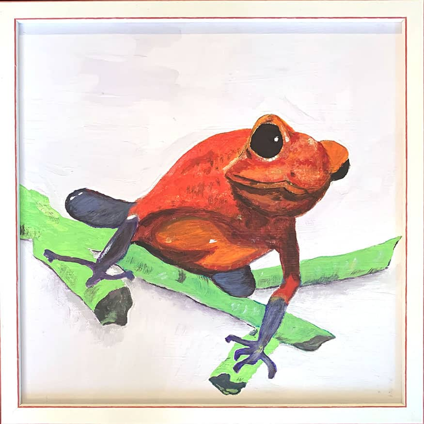 Bild Keusch-Wannags 7 Frosch rot 40 x 40 cm
