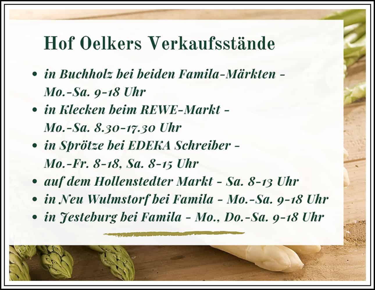 Hof Oelkers Verkauftsstaende