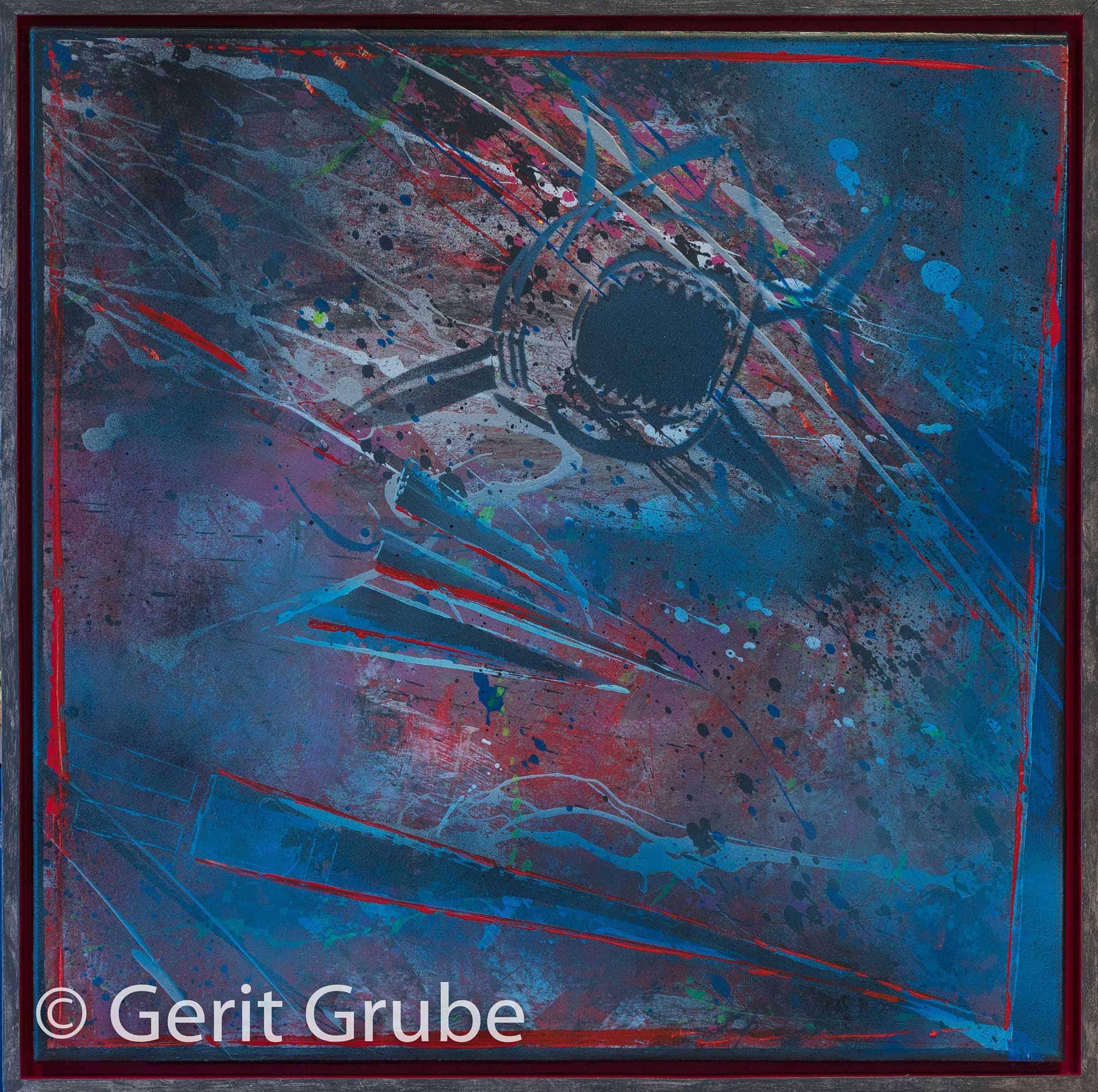 Torpedierung -65x65 cm im Schattenfugenrahmen - Gerit Grube