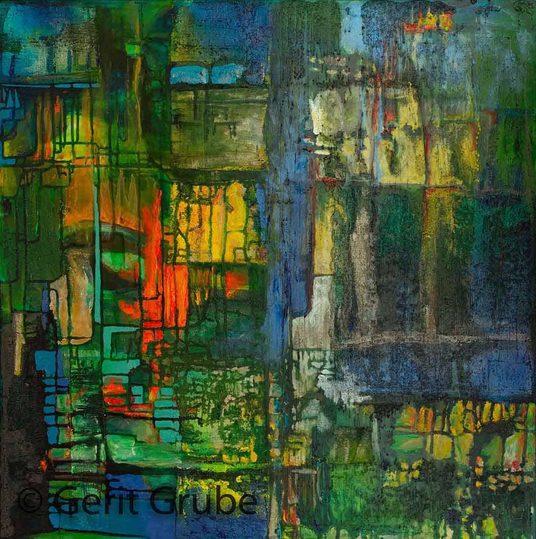 Versunken - 80x80 cm - Gerit Grube