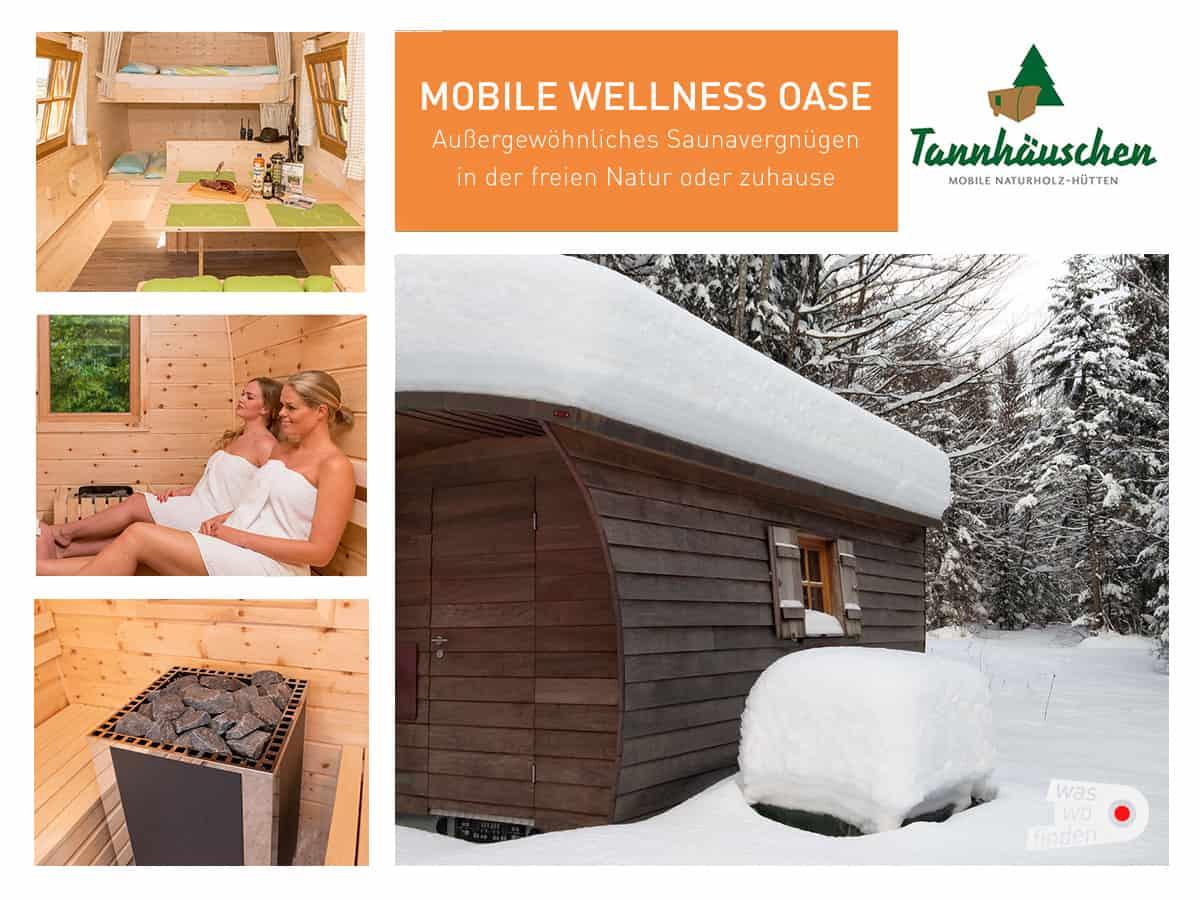 Exklusive mobile Sauna vom Tannhäuschen