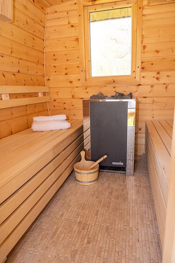 WasWoFinden Zirben Sauna
